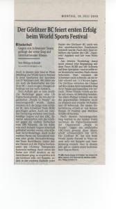 19.07.2010 Sächsiche Zeitung