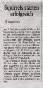 19.10.2012 Sächsische Zeitung